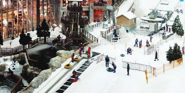Ski Dubai – первый крытый горнолыжный комплекс на Ближнем Востоке